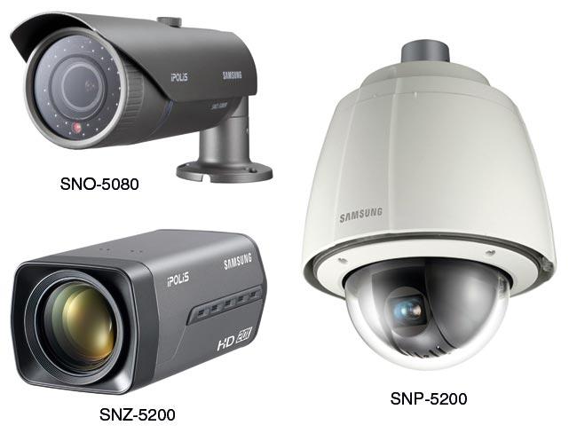 Камеры видеонаблюдения SNO-5080R, SNZ-5200 и SNP-5200/5200H