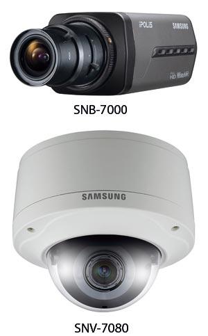 Линейка 3-мегапиксельных камер, включающая поставляемые без оптики модели SNB-7000 (стандартная компоновка), SND-7080 (полусферический купол для установки в помещениях) и SND-7080 (полусферический купол уличного исполнения